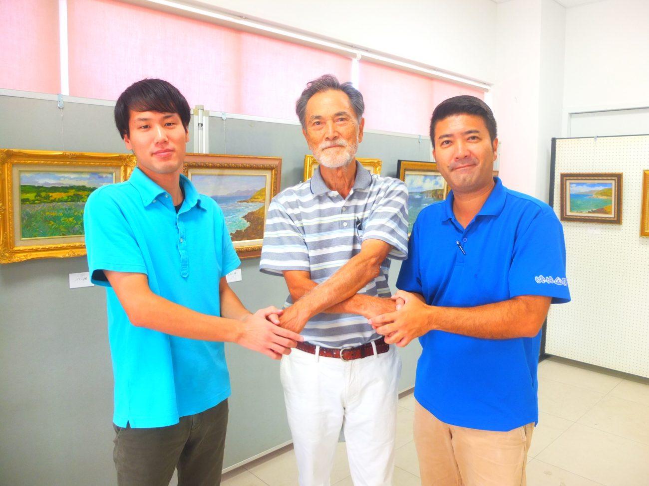宮城重徳さんによる「国頭を描く絵画展」開催中 (9/31まで)